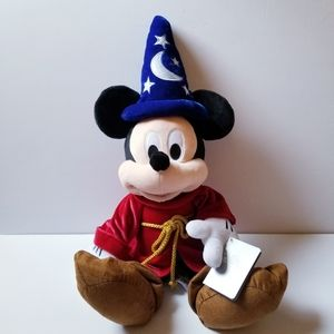 NWT Disney Mickey Mouse Sorcerer Plush Toy